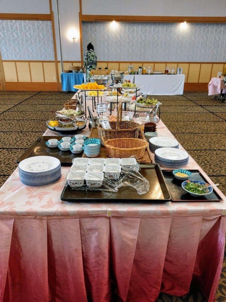 小京都の湯 みくま飯店早餐