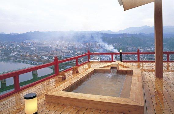 小京都の湯-みくま飯店露天風呂