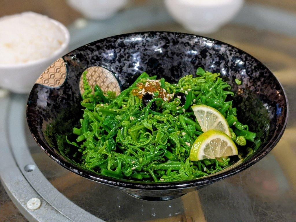竹香園山產美食仙草店 和風涼拌過貓