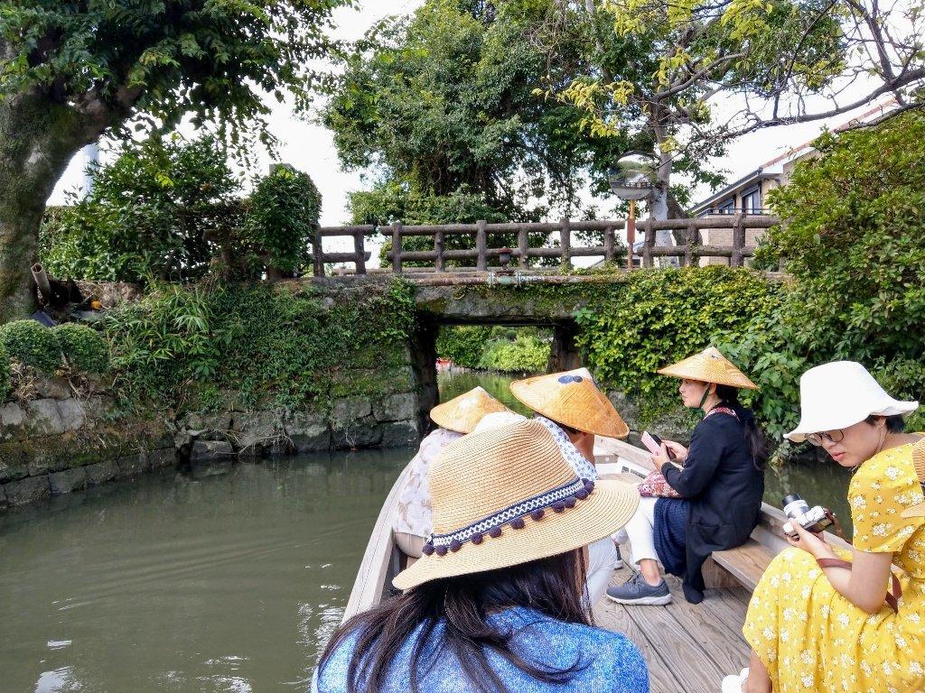 九州柳川遊船超級窄橋