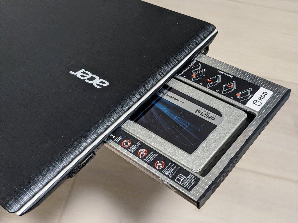 筆電光碟機改裝SSD放回電腦
