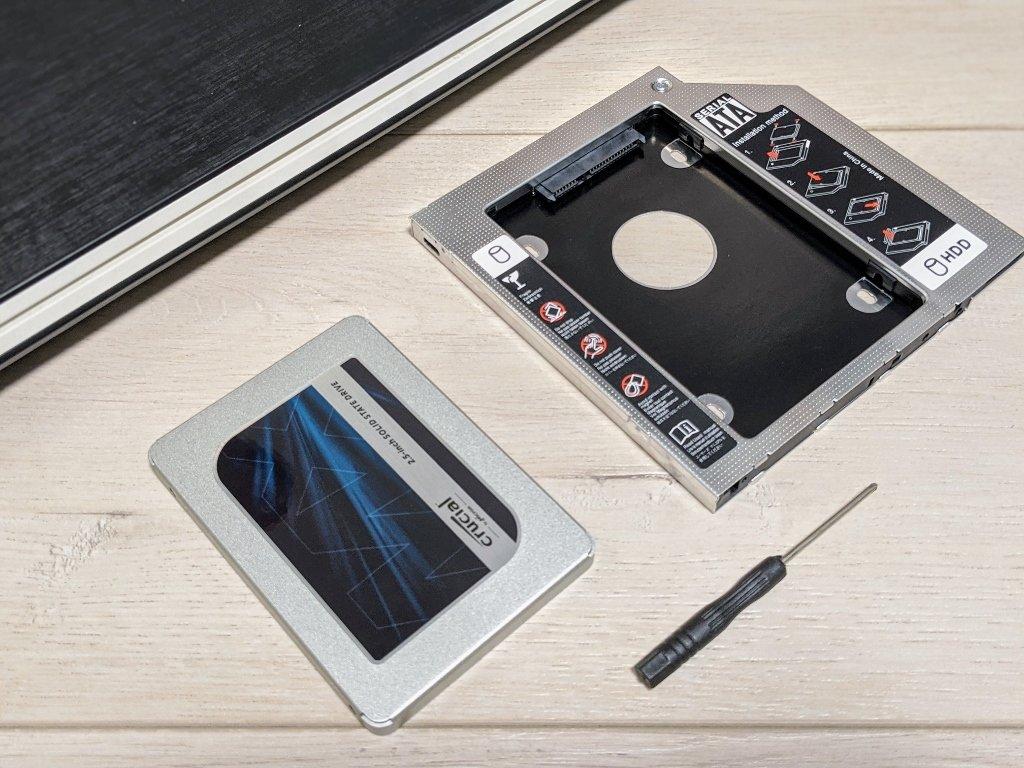 筆電光碟機改裝SSD轉接架工具