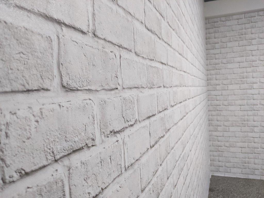 COSTCO 韓國高擬真水貼自黏壁紙 白磚樣式完工