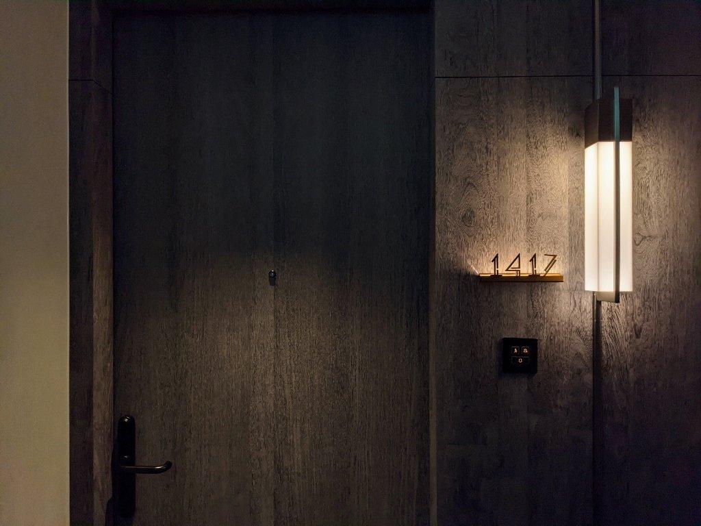 傑仕堡商旅板橋館 樂逸客房雙人房房門口