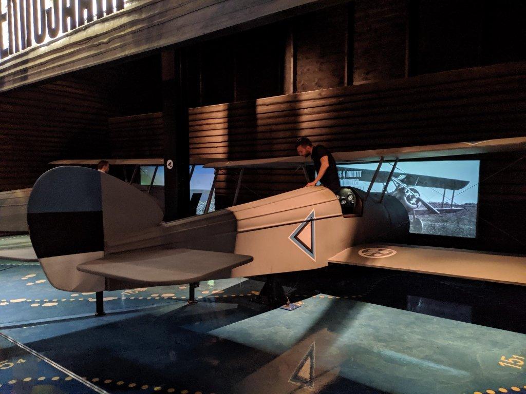 塔林 Lennusadam 水上飛機港口博物館 飛機駕駛體驗區 (2)