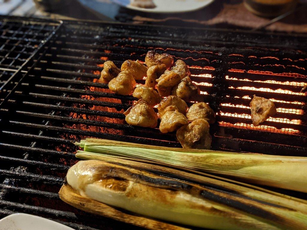 屏東夜深人靜居酒屋 烤台上的美食 (1)