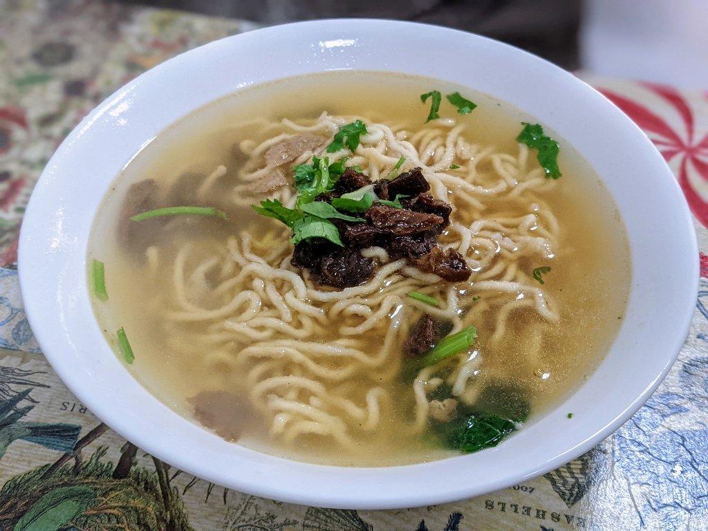 菩提綠食素食餐飲 炸意麵湯