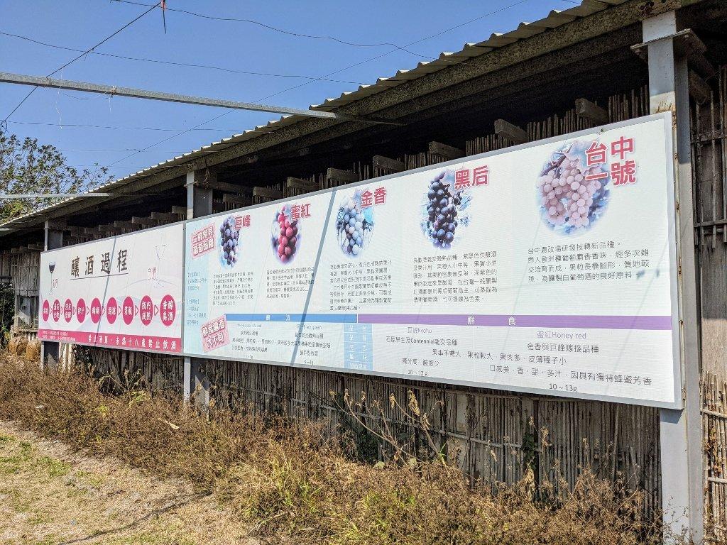 二林台灣酒窖遊客服務中心 葡萄種類