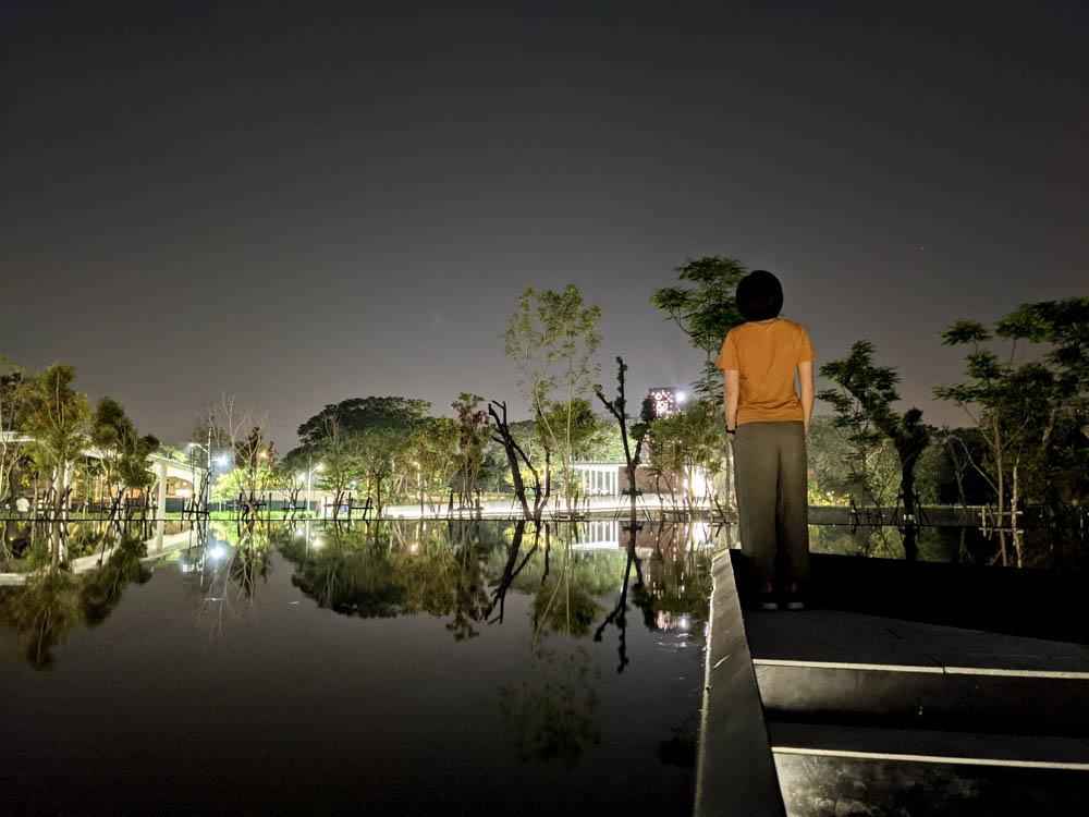 屏東縣民公園 在水一方倒影