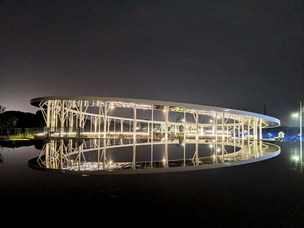 屏東縣民公園 在水一方水面倒影
